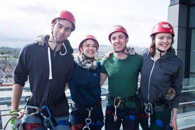 Our Summer Students leave us – some on a charity abseil rope!