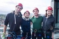 Students get ready for the abseil
